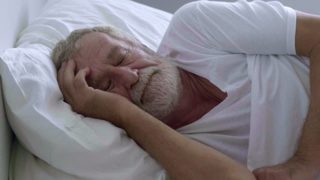 napping - sad old asian man stock videos & royalty-free footage