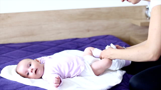 nappy diaper changing - wet wipe stock videos & royalty-free footage