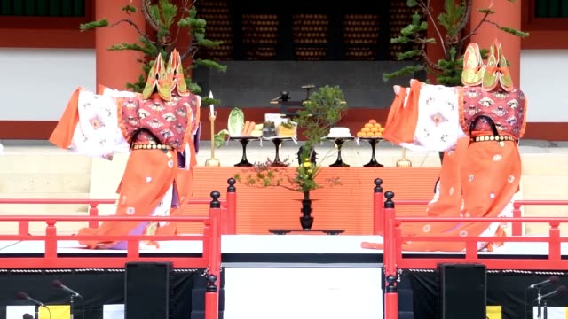 naraafter more than three centuries since it burned down the central golden hall at kofukuji temple finally has its luster fully restored about 3000... - national icon stock videos and b-roll footage