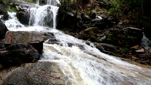 naramata creek park waterfall - british columbia stock videos & royalty-free footage