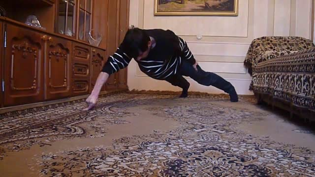 narek hakobyan has a bizarre skill that he's more than happy to demonstrate - the ability to complete push-ups using just his... - index finger stock videos & royalty-free footage
