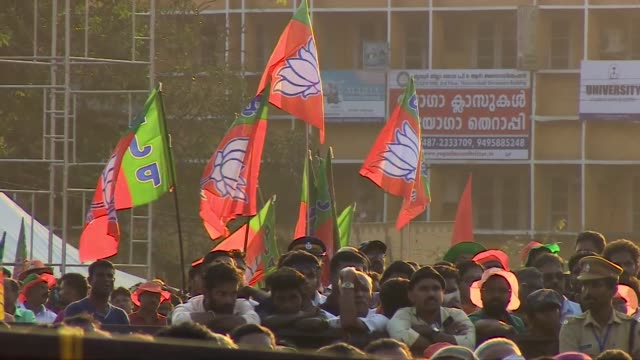 Narendra Modi at a BJP rally in Kerala