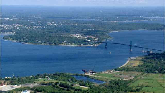 Narragansett Bay  - Aerial View - Rhode Island, Newport County, United States