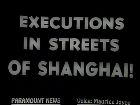 narrated / 1949 newsreel / crowds fill the streets of shanghai / the city is isolated by the chinese communist army / young men run through the... - execution stock videos & royalty-free footage