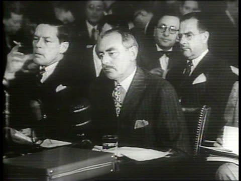 narrated / a crowd of delegates from all over the world listen intently at world congress of partisans of peace conference / another large crowd with... - 1949 stock videos and b-roll footage