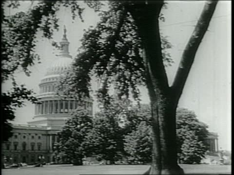 vídeos y material grabado en eventos de stock de narrated / a large crowd / exterior of us capitol building / - narrating