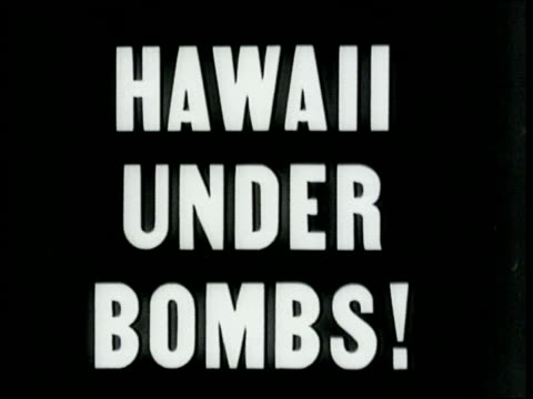 Narrated / Footage during a surprise air raid on Honolulu by Japanese aircraft / Aerial footage of Honolulu's coast and city / Three Japanese bombers...