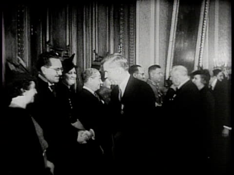stockvideo's en b-roll-footage met narrated / henry wallace meets with mexican delegates in the national palace / visits the military academy, meets officials / mexican cadets perform / - kadet