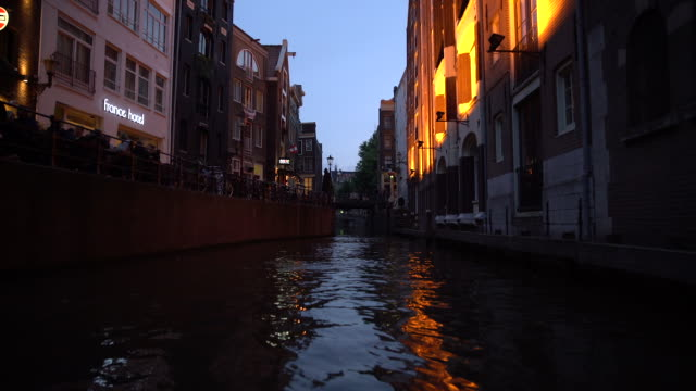 narrow canal - boat point of view stock videos & royalty-free footage