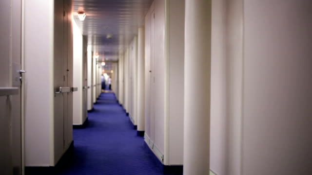 Narrow empty corridor