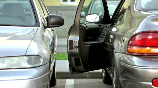 ms narrow parking space - narrow stock videos and b-roll footage