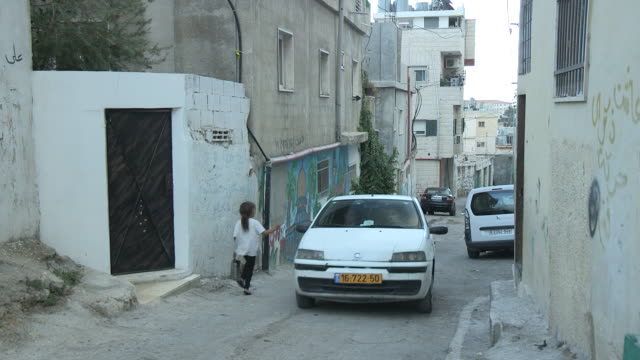 Narrow Street, Light Traffic, Bethlehem, Palestine
