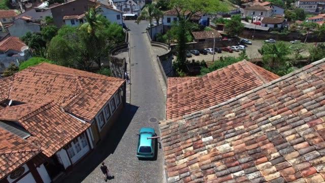 narrow streets in ouro preto in minas gerais, brazil - preto stock videos & royalty-free footage