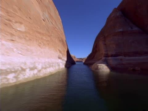 a narrow waterway between sandstone cliffs - sandstone stock videos & royalty-free footage
