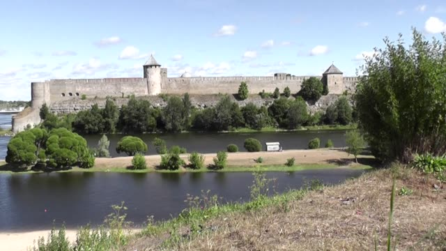 narva is the third largest city in estonia it is located at the eastern extreme point of estonia at the russian border on the narva river narva is... - estonia stock videos & royalty-free footage