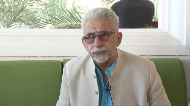 interview naseeruddin shah on what it means to have this film at diff why this is not a traditional bollywood film why he wanted to play this... - bollywood stock videos and b-roll footage