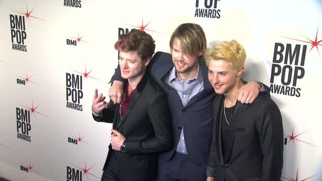 nash overstreet chord overstreet ryan keith follese at 61st annual bmi pop awards on 5/14/13 in los angeles ca - chord stock videos and b-roll footage