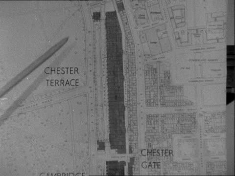 Nash terraces near Regents Park to be demolished ENGLAND London Regents Park GV's of Park Crescent Cambridge Gate Cumberland Terrace MAP of Nash...