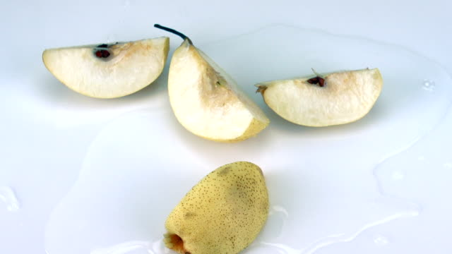 nashi fruit falling on the ground - pear stock videos & royalty-free footage