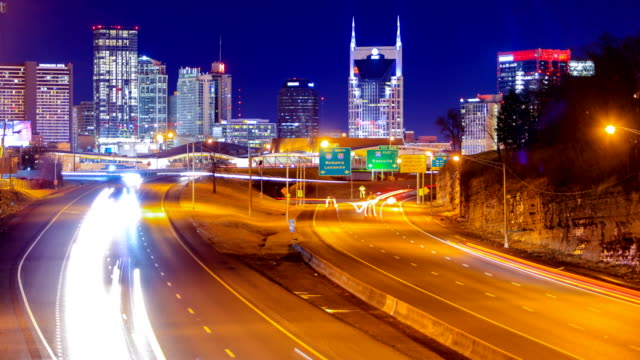 nashville skyline - tennessee stock videos & royalty-free footage