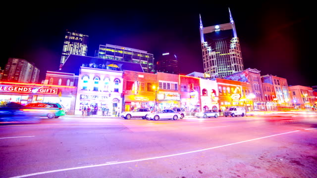 nashville skyline - nashville stock videos & royalty-free footage