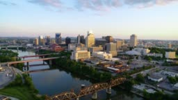 Nashville Tennessee USA Skyline Aerial View