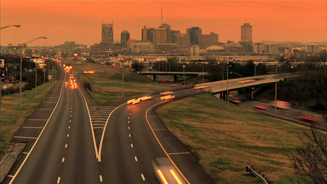 nashville time lapse warm - nashville stock videos and b-roll footage