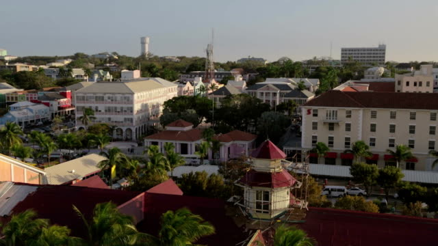 Nassau downtown aerial footage