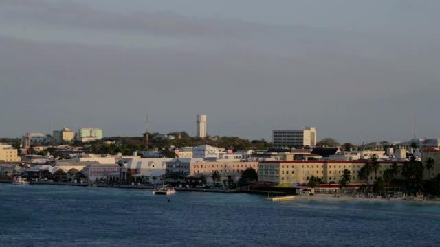 Nassau downtown aerial footage