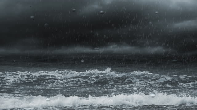 クの嵐の海