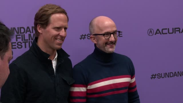 "nat faxon jim rash at the ""downhill"" sundance premiere presented by searchlight pictures sundance film festival at eccles center theatre on january... - sundance film festival stock videos & royalty-free footage"