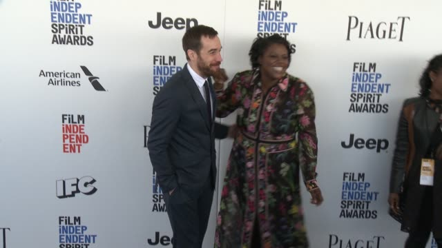 Nat Sanders and Joi McMillon at the 2017 Film Independent Spirit Awards Arrivals on February 25 2017 in Santa Monica California
