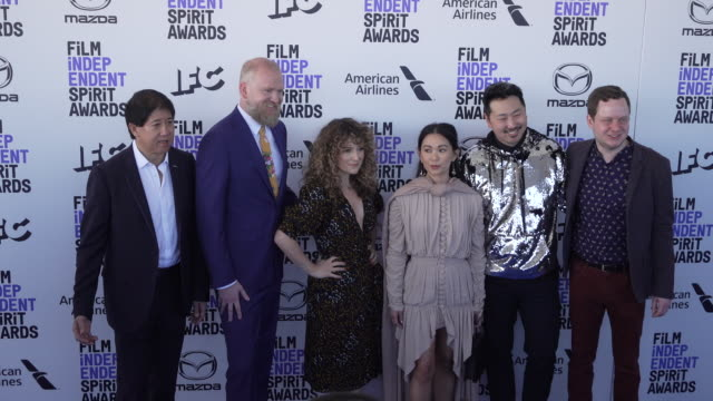 natalia domoratskaya hong chau andrew ahn stephen mao guest and joe pirro at the 2020 film independent spirit awards on february 08 2020 in santa... - film independent spirit awards stock videos & royalty-free footage
