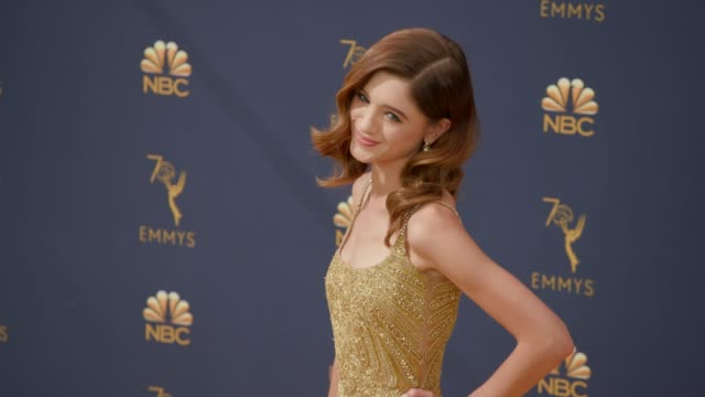 Natalia Dyer at the 70th Emmy Awards Arrivals at Microsoft Theater on September 17 2018 in Los Angeles California