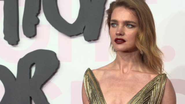 natalia vodianova at fashion for relief fashion catwalk - the 71st cannes fillm festival at aeroport cannes mandelieu on may 13, 2018 in cannes,... - カンヌ・マンデリュー空港点の映像素材/bロール