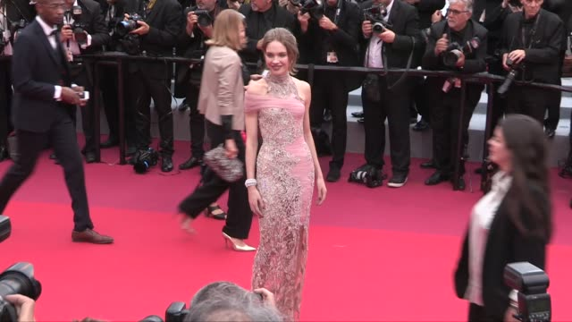 natalia vodianova josephine skriver hailey clauson and more on the red carpet for the premiere of la belle epoque cannes france on monday may 20 2019 - cannes stock videos & royalty-free footage