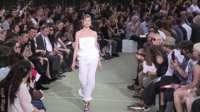 natalia vodianova kendall jenner mariacarla boscono joan smalls and models walk the runway for the givenchy menswear spring summer 2017 fashion show... - spring summer collection stock videos & royalty-free footage
