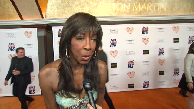 natalie cole on being a part of the night, what she appreciates about the work nancy davis is doing, what guests can expect from her performance, her... - ナンシー デイヴィス点の映像素材/bロール