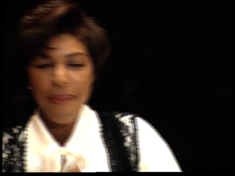 natalie cole talks to reporters - friars roast 1993 stock videos and b-roll footage