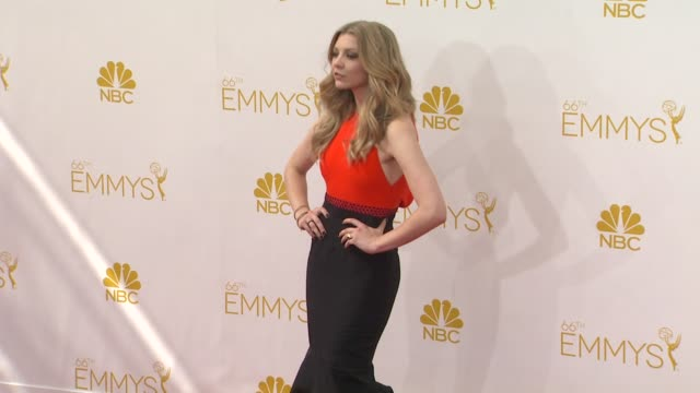 natalie dormer 66th primetime emmy awards arrivals at nokia theatre la live on august 25 2014 in los angeles california - dormer stock videos and b-roll footage