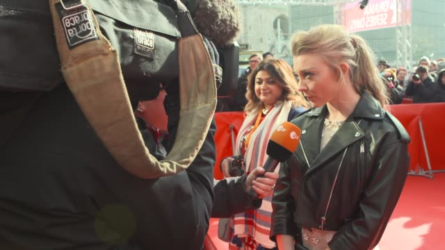 Natalie Dormer at 68th Berlin Film Festival Picnic At Hanging Rock Red Carpet at Zoo Palast on February 19 2018 in Berlin Germany
