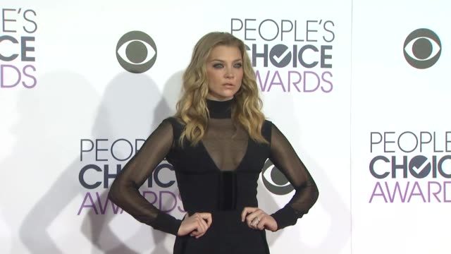 Natalie Dormer at the People's Choice Awards 2016 at Nokia Plaza LA LIVE on January 6 2016 in Los Angeles California