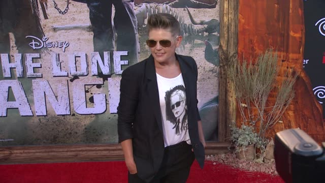 natalie maines at the lone ranger los angeles premiere natalie maines at the lone ranger los angeles pr at disney california adventure park on june... - the lone ranger 2013 film stock videos and b-roll footage