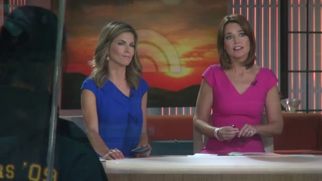 natalie morales-rhodes and savannah guthrie at the 'today' show studio in new york, ny, on 9/16/13. - savannah guthrie stock videos & royalty-free footage
