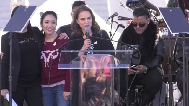 SPEECH Natalie Portman at 2018 Women's March Los Angeles on January 20 2018 in Los Angeles California