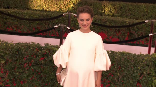 stockvideo's en b-roll-footage met natalie portman at 23rd annual screen actors guild awards arrivals in los angeles ca - screen actors guild awards