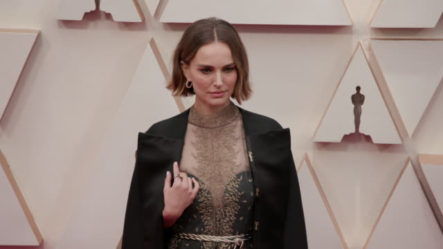 natalie portman at the 92nd annual academy awards arrivals on february 09 2020 in hollywood california - academy awards stock videos & royalty-free footage