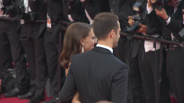 Natalie Portman Benjamin Millepied at Opening Ceremony 'La Tete Haute' Red Carpet at Palais des Festivals on May 13 2015 in Cannes France