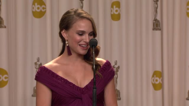 natalie portman on having a baby means to her on darren aronofsky and what's next for her at the 83rd annual academy awards press room at hollywood ca - darren aronofsky stock videos and b-roll footage