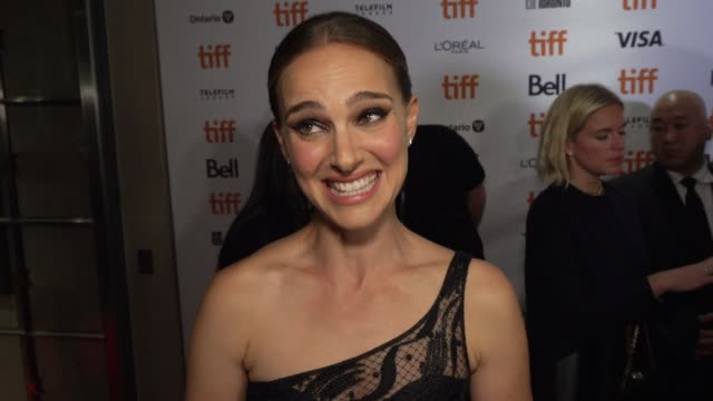 natalie portman on why she loved lucy's story, talks about how she trained to play an astronaut and working with noah & the cast at princess of wales... - toronto international film festival stock videos & royalty-free footage